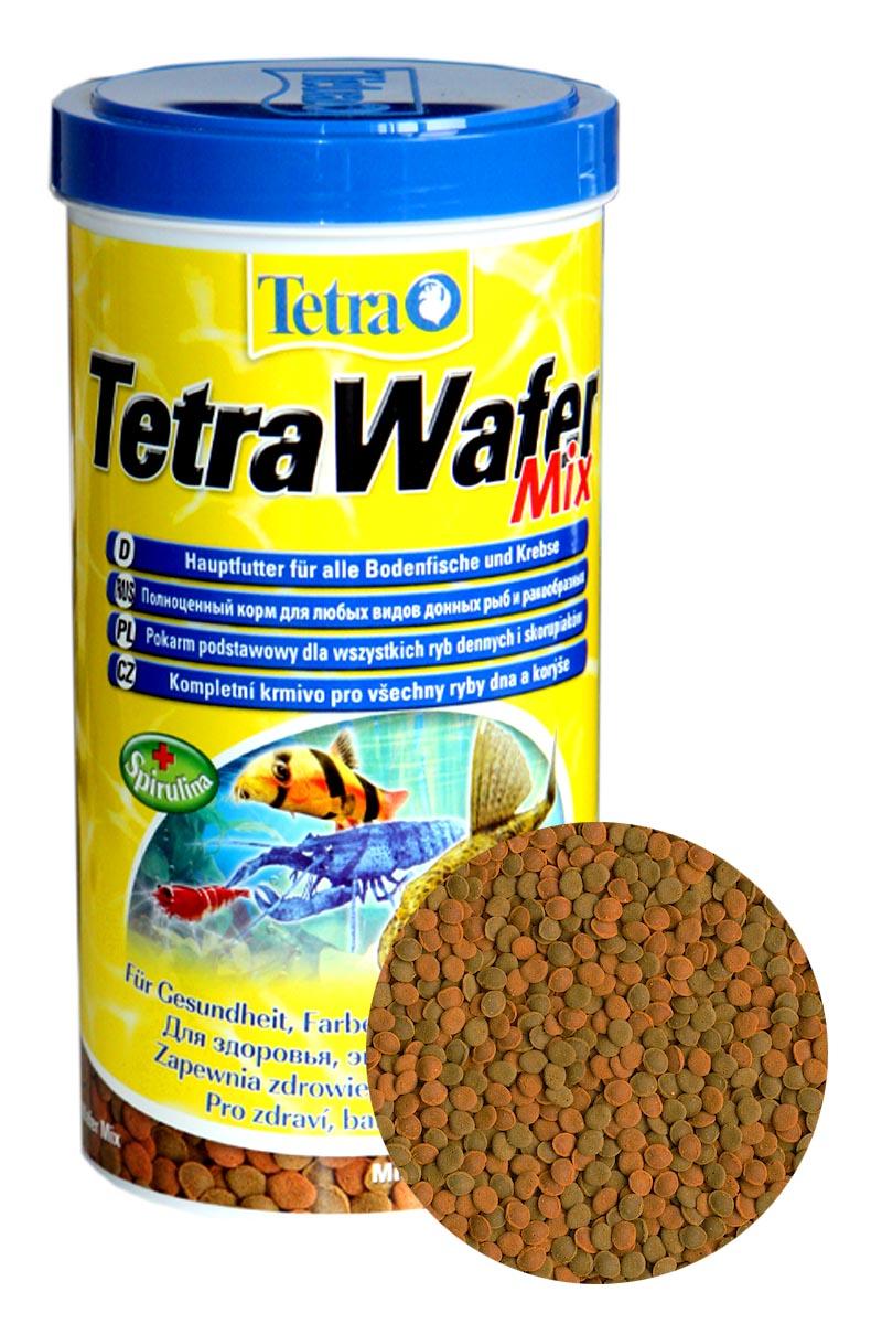 Корм Tetra Wafer Mix для донных рыб и ракообразных, 480 г. (1кг.)