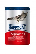 Консервы Happy Cat Adult (Говядина, баранина), 100 г.