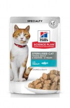 Hills Science Plan Sterilised Cat с форелью, 85 г.