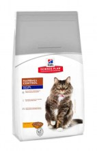 Hill's Science Plan Feline Adult 7+ Hairball Control Chicken с курицей