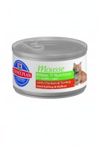 Hills Science Plan Kitten 1st Nutrition Mousse курица с индейкой, 82 г.