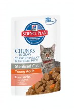 Hills Science Plan Young Adult Sterilised Cat Salmon с лососем, 85 г.
