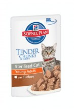 Hills Science Plan Young Adult Sterilised Cat Turkey с индейкой, 85 г.